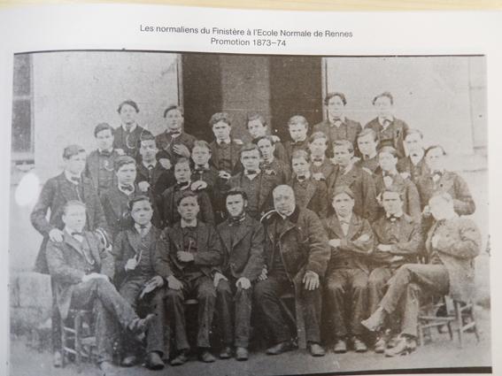 Quant les normaliens du Finistère (1873-1874) faisaient leurs études à l'EN de Rennes