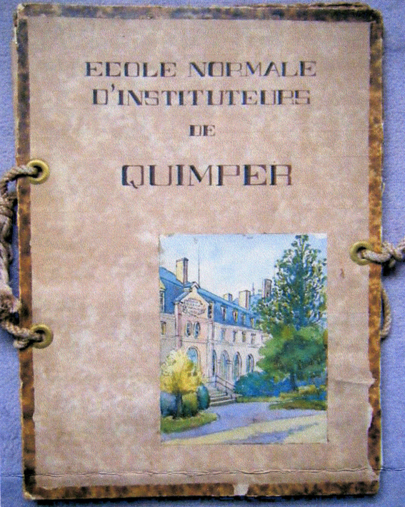 Aquarelles et lavis de normaliens de Quimper (1930)
