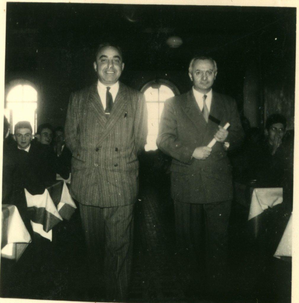 M.Courtin Directeur et M. Beaufils intendant