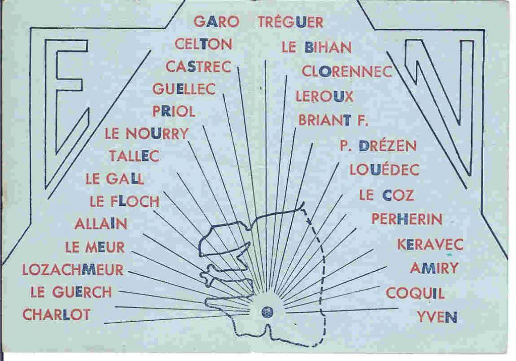 Promotion Perherin Yves - 1945-1948 - Carte de promotion - Liste des élèves-maîtres