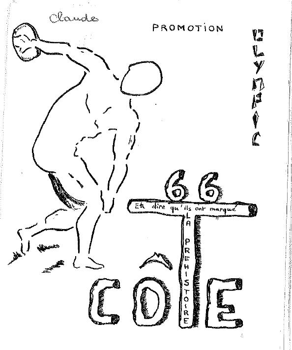 Carte de cote - Promotion Olympic - 1964-1968