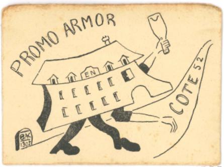 Couverture carte de cote - Promotion ARMOR 1950-1954