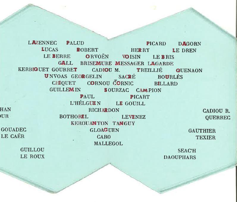 Carte de promotion - Promotion ALBATROS