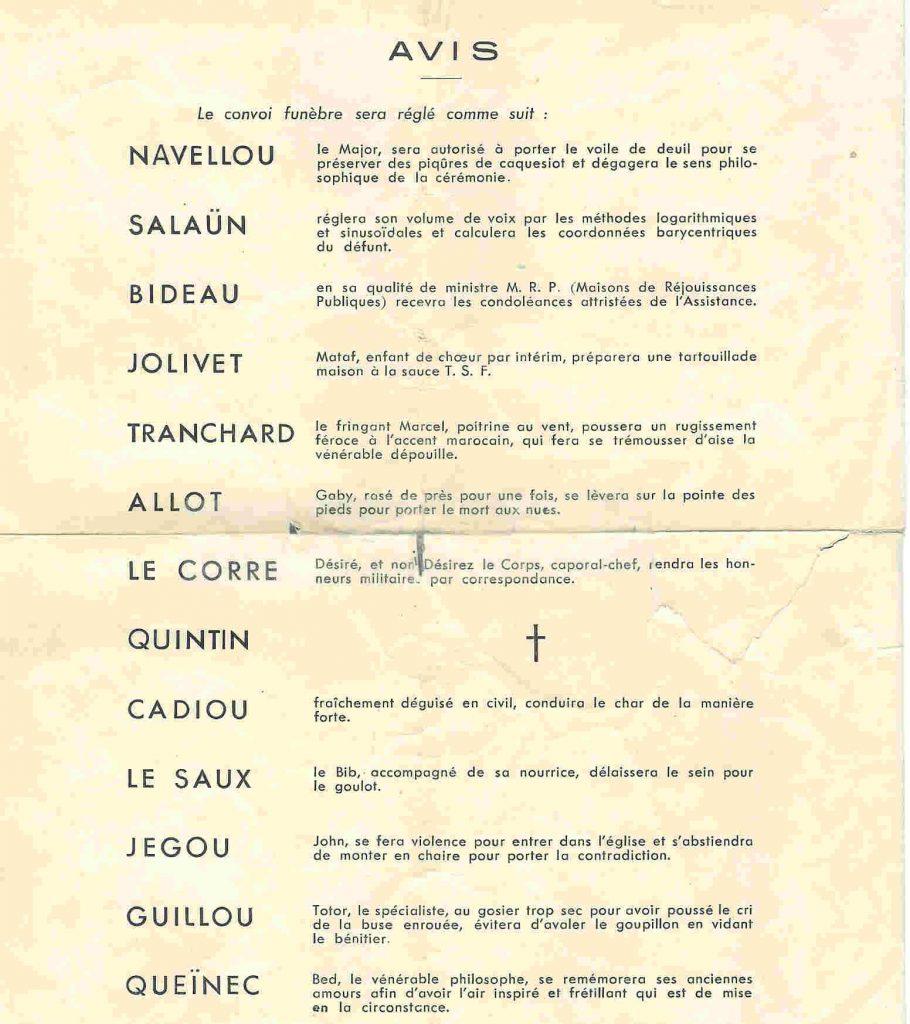 Père Cent de la promotion OURAGAN -1957-1961