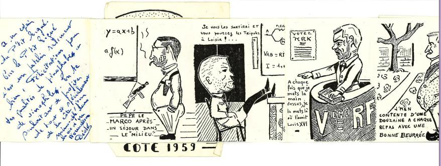 Carte de cote - Promotion POPEYE -1957-1961