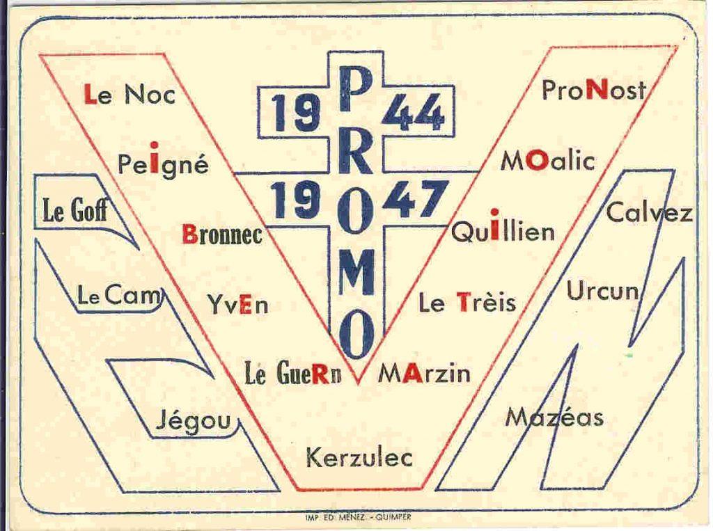 V de Victoire, Promotion Libération - 1944-1947 - Liste de élèves-maîtres