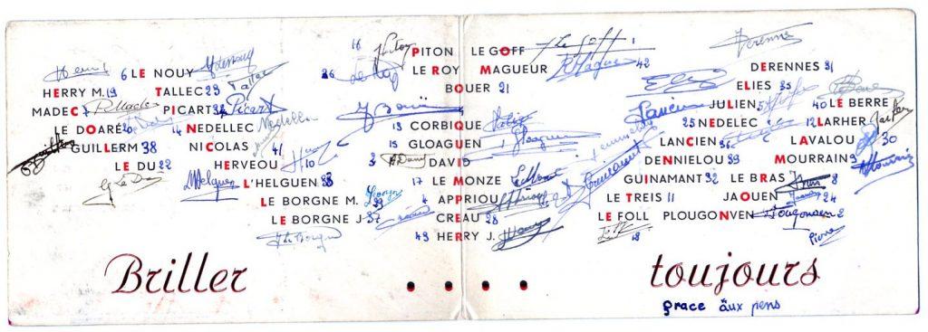 Carte d'identité de la promotion ETINCELLE renseignée et signée