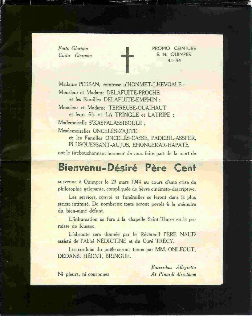 Père Cent Promotion Ceinture (1941-1944)