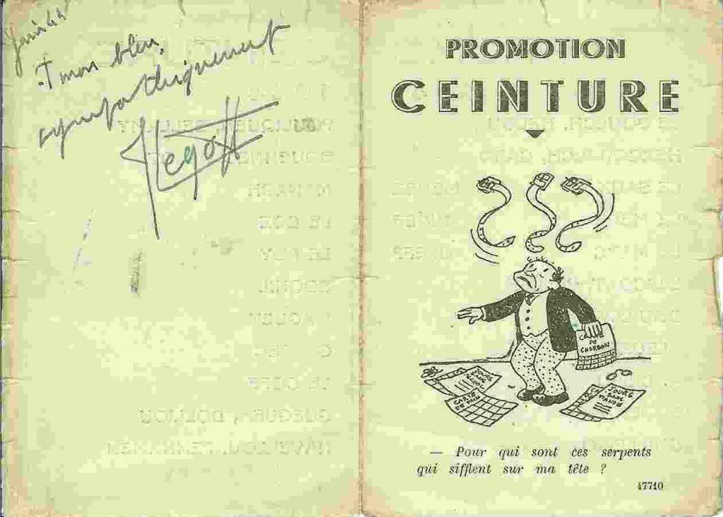 promotion Ceinture - 1941-1944 - Carte de promotion