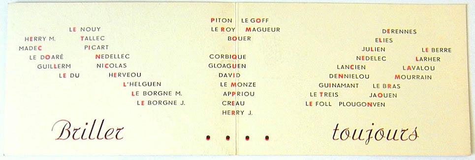 Promotion ETINCELLE - 1954-1958