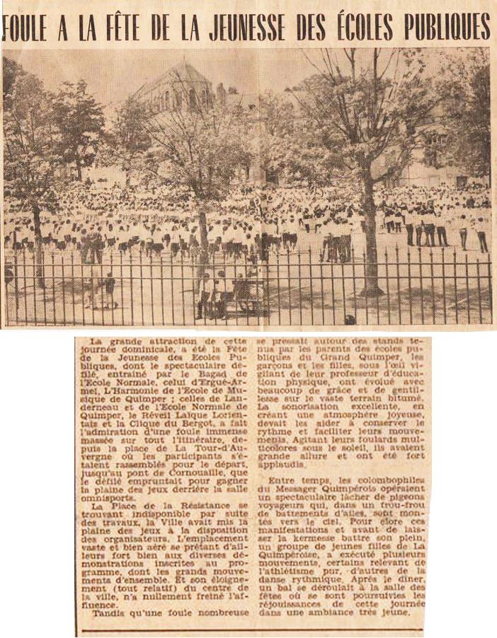 3- Juin 1969 dernier défilé de la Fête de la jeunesse des écoles publiques