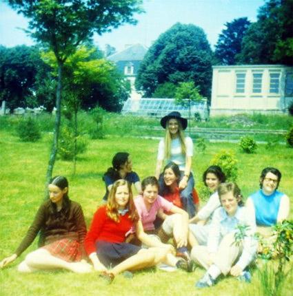Groupe de normaliennes à l'ENG - 1971