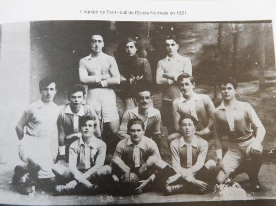 L'équipe de football de l'EN en 1921