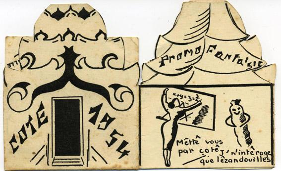 Promotion Fantaisie - carte de cote 1954