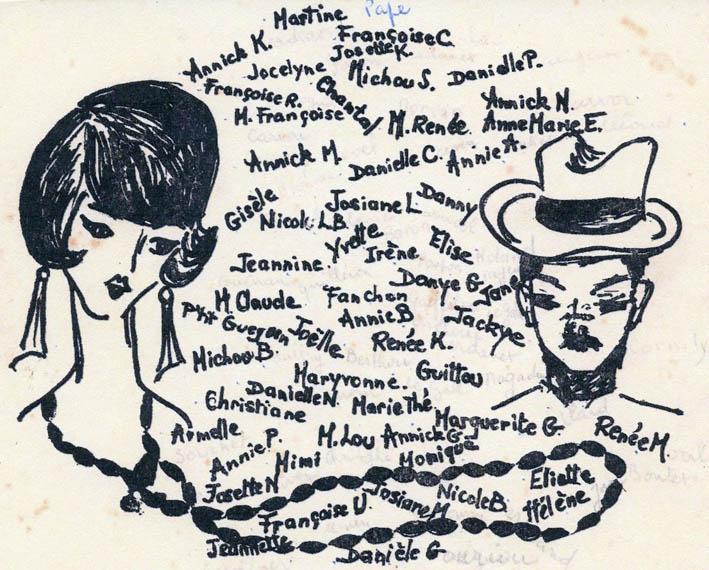Carte de Cote, Promotion LES COMETES, 1963-1967